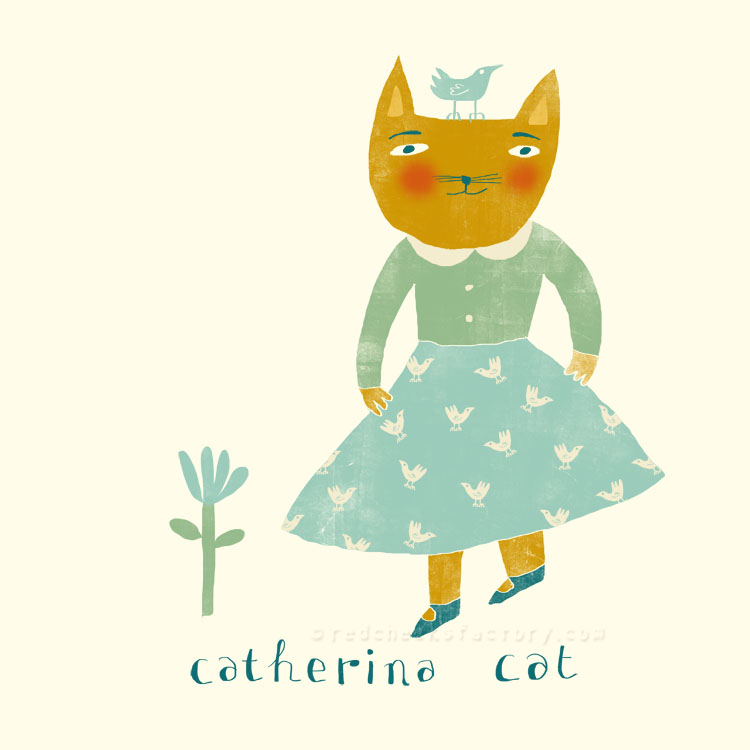 Catherina Cat  animal character by Nelleke Verhoeff