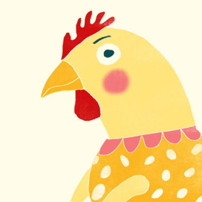 Cecilia Chicken animal character for Childrens picture book