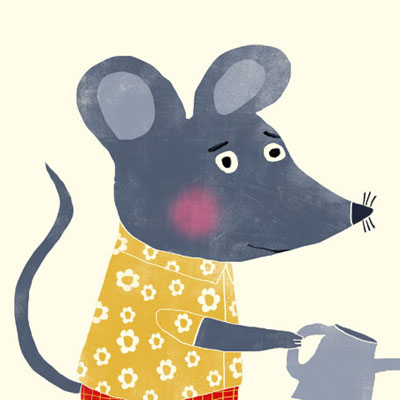 Max Mouse animal character for Childrens picture book