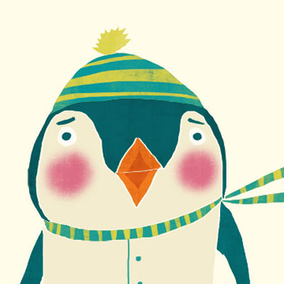 Pim Penguin animal character for Childrens picture book