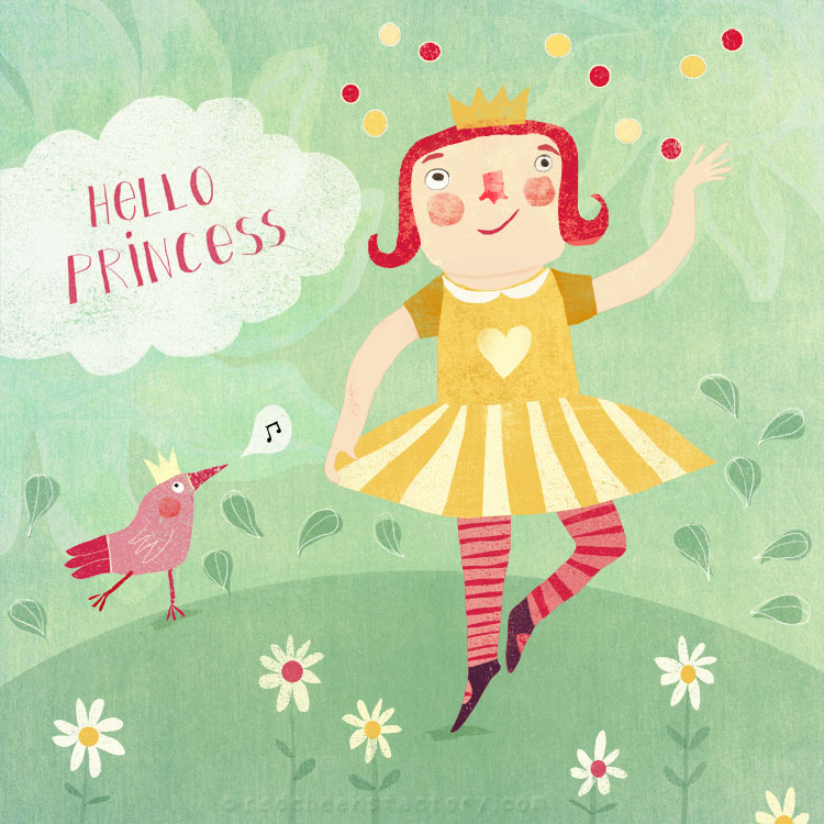 Hello Prinses Childrens Illustration
