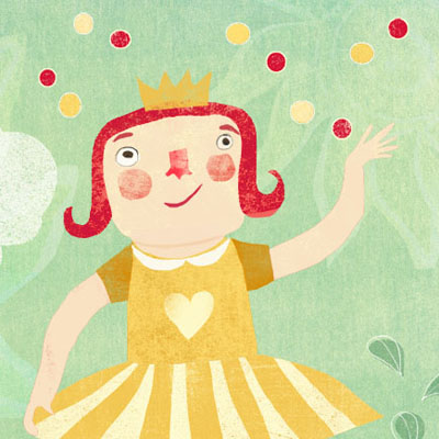 Princess illustration for children