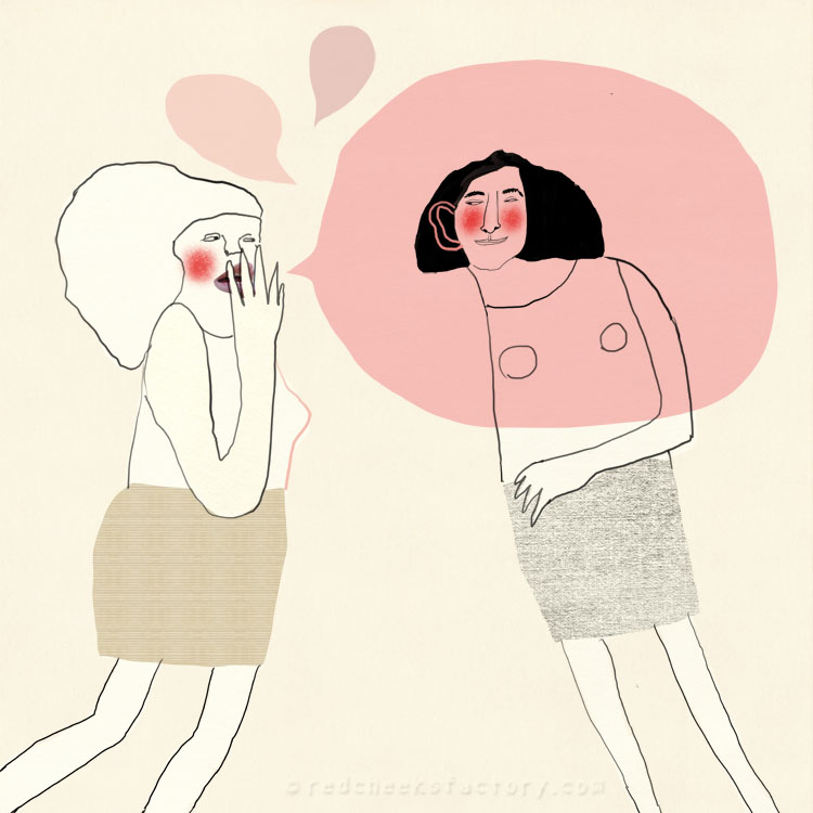 Secret illustration about women and gossip