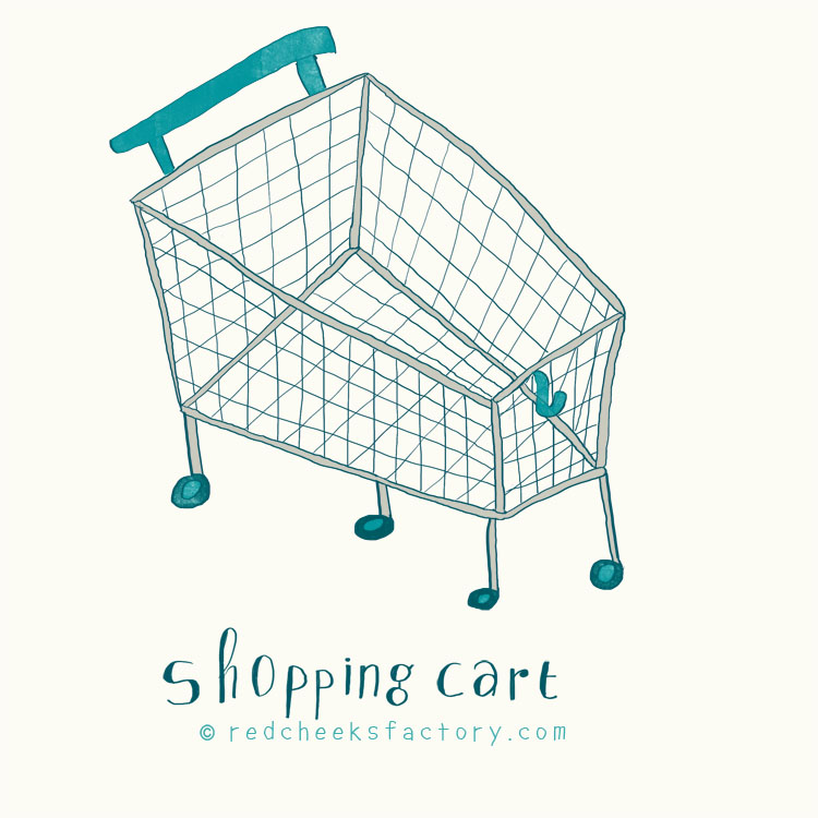 Shopping Cart illustration by Nelleke verhoeff