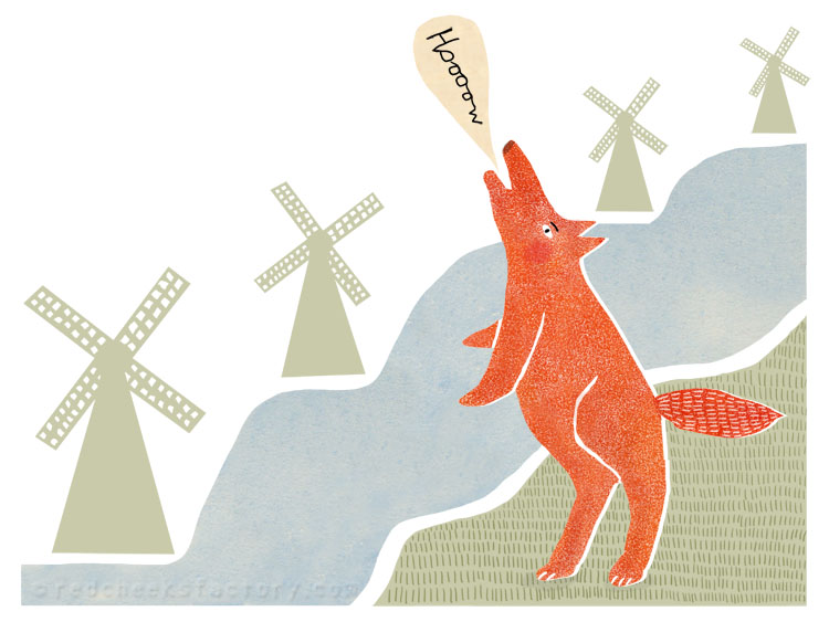 Wolf In Holland Illustration