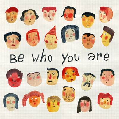 Faces giclee print with inspiring quote