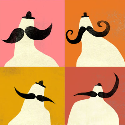 Illustration / Art print of men with moustaches