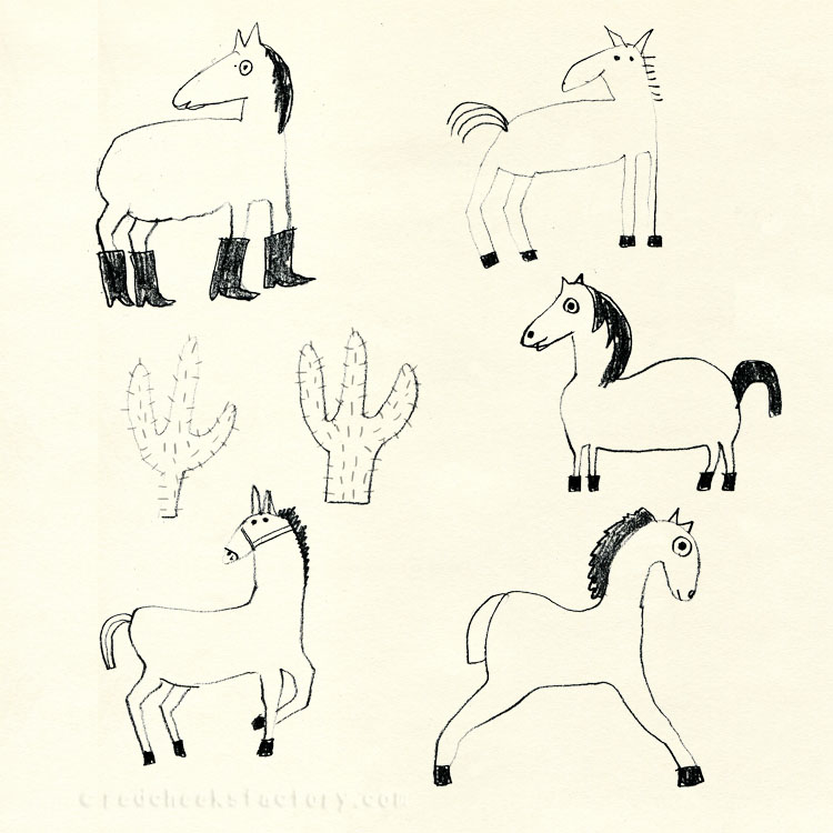Horse Doodles for cowbear party