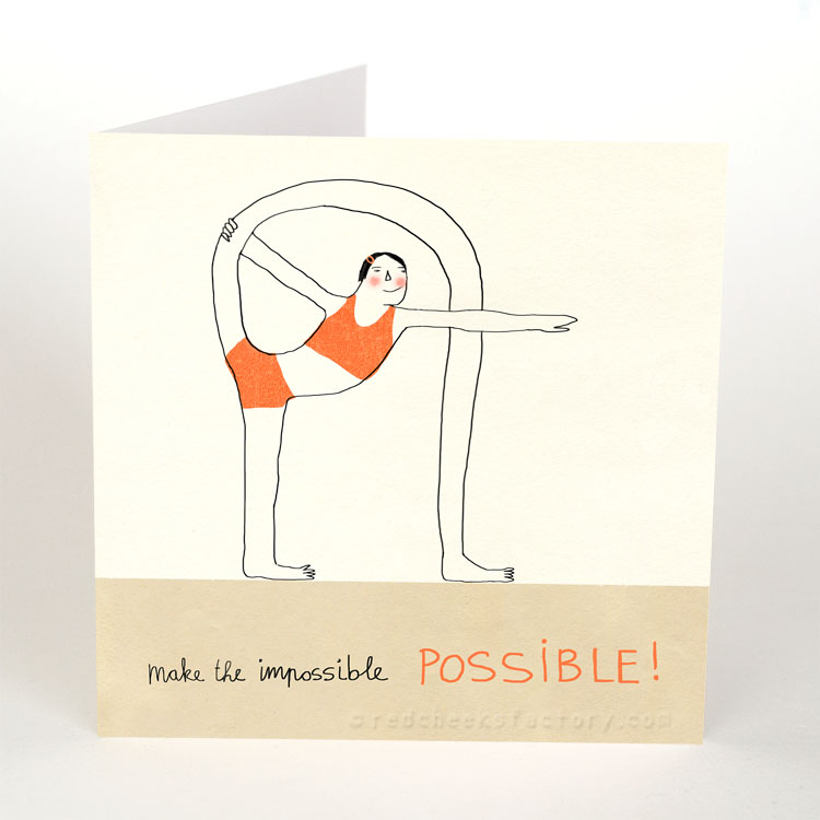 Make It Possible - Inspiration yoga postcard