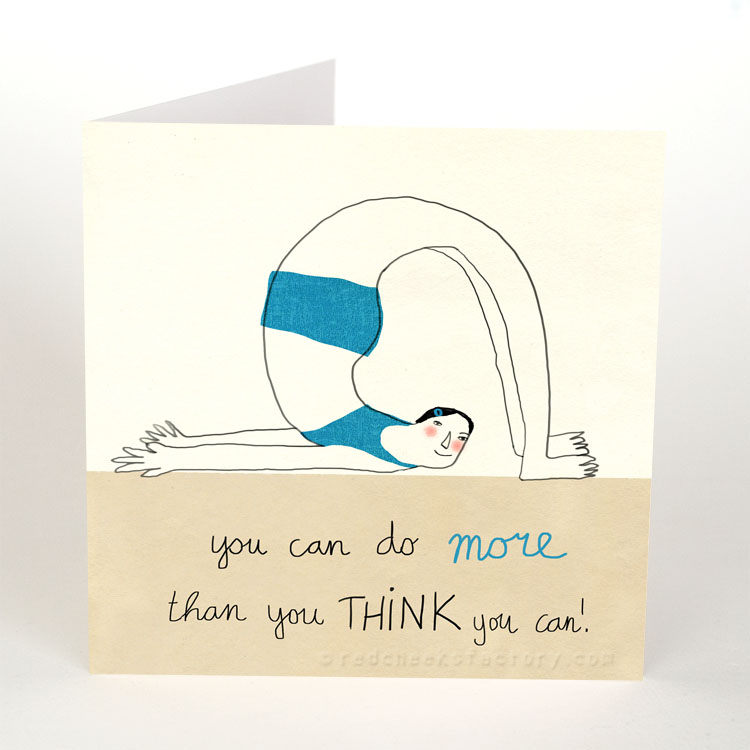 More Than You Think - Inspiration yoga postcard