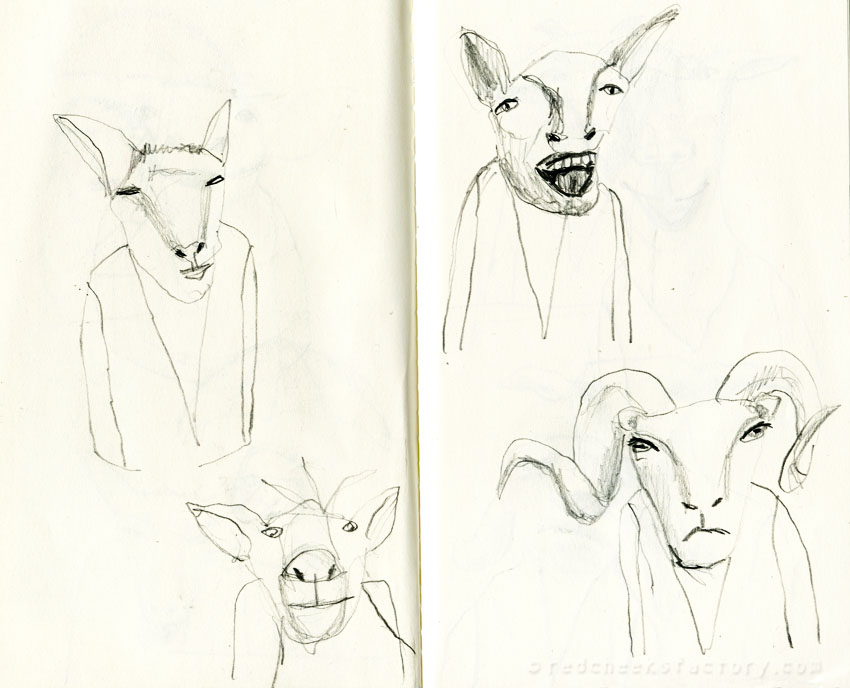 Goats pencil drawings from my sketchbook 3