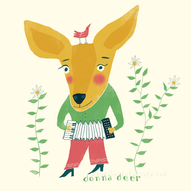 Donna Deer animal character by Nelleke Verhoeff