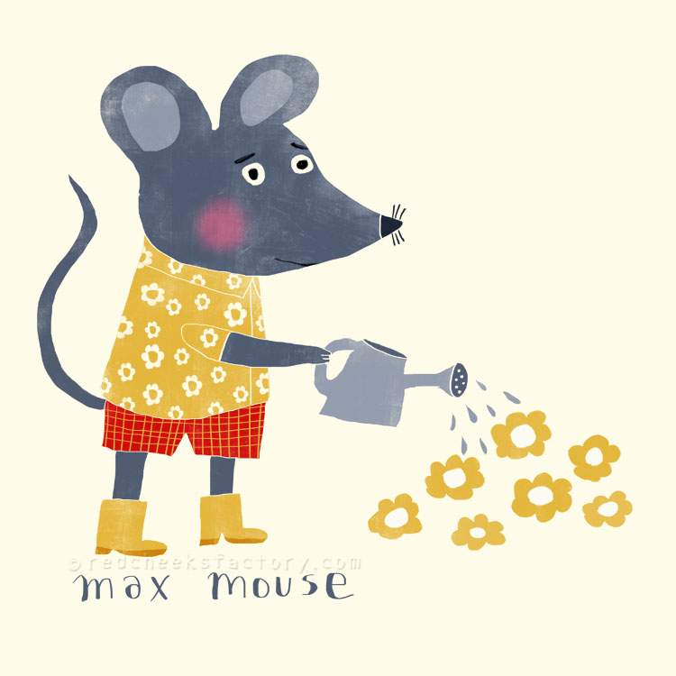 Max Mouse animal character by Nelleke Verhoeff