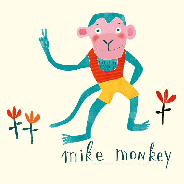 Mike Monkey illustration by Nelleke verhoeff