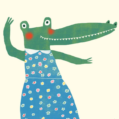 Annie Alligator animal character for Childrens picture book