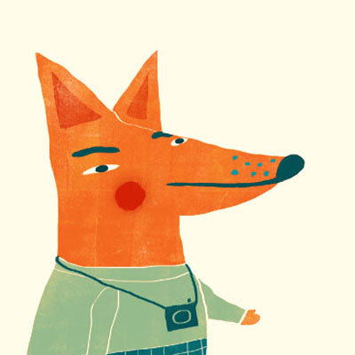 Felix Fox animal character for Childrens picture book