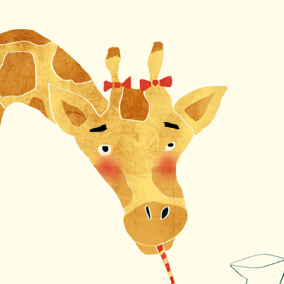 Gina Giraffe animal character for Childrens picture book