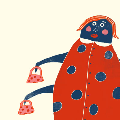 Lola Ladybird animal character for Childrens picture book