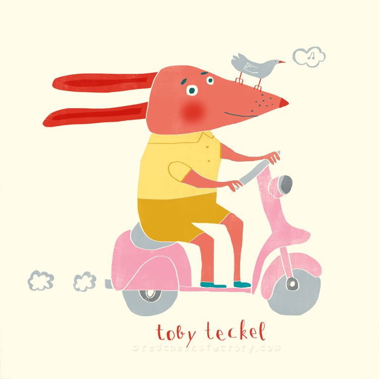Toby Teckel animal character by Nelleke Verhoeff