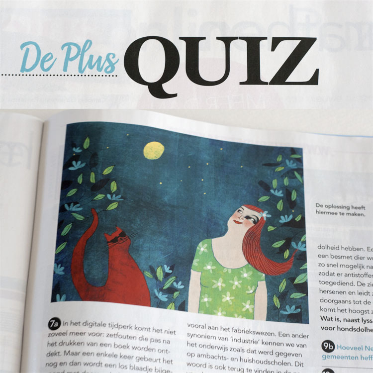 Plus Quiz  Illustration for Plus Magazine Zomer 2016