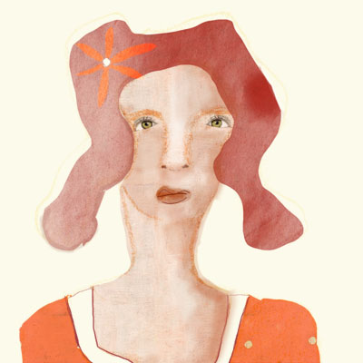Portrait of a lady in orange