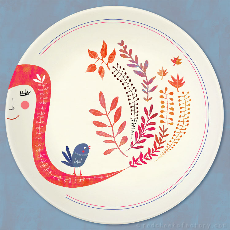 Autumn Leaves party plate design by Nelleke Verhoeff
