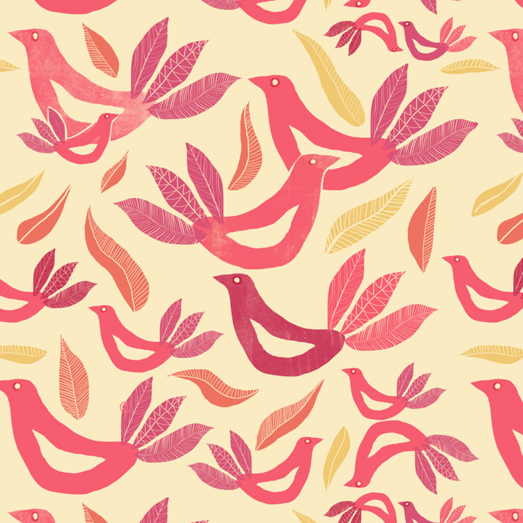 Birds And Feathers pattern Nelleke Verhoeff