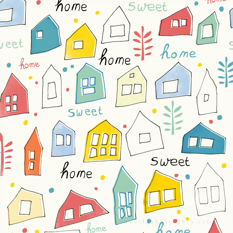 Home Sweet Home pattern by Nelleke Verhoeff
