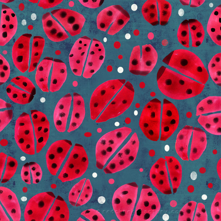 Ladybug animal Pattern by Nelleke Verhoeff