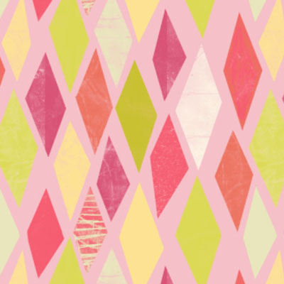 Retro geometric summer patterns