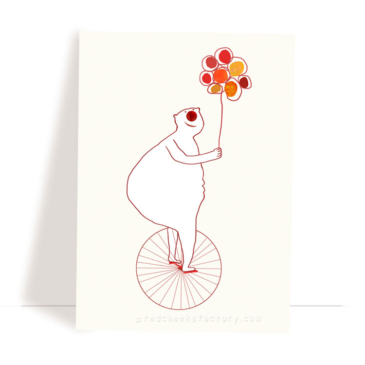 Bicycle Bear postcard