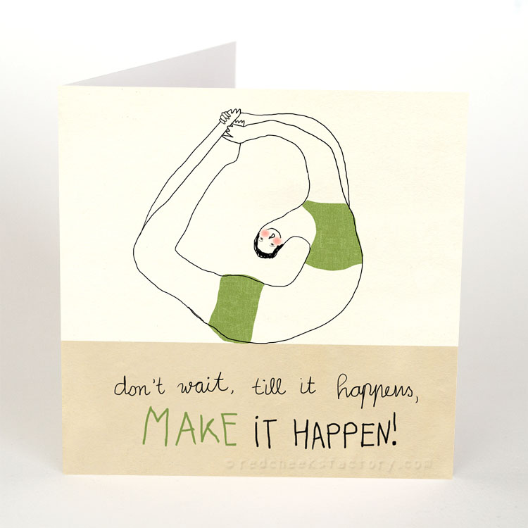 Make It Happen - Inspiration yoga postcard