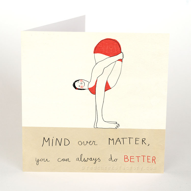 Mind Over matter - Inspiration yoga postcard