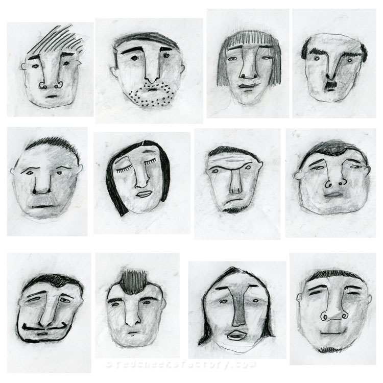 Face Gallery from my sketchbook