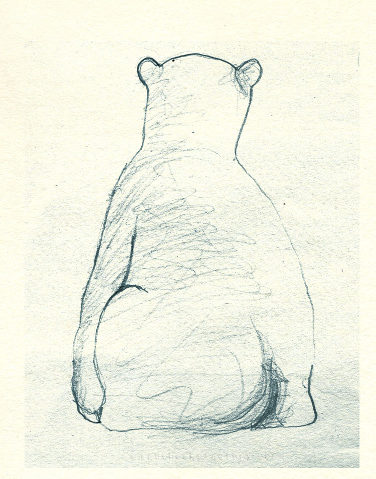 Polar Bear study from mu sketchbook 2