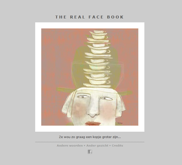 THE REAL FACE BOOK 11 illustration from my face a day project