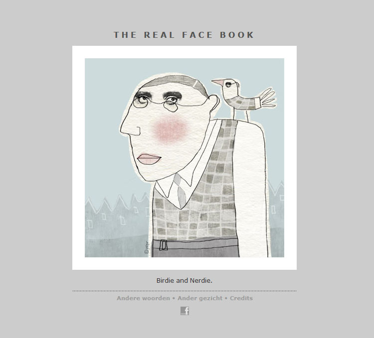 THE REAL FACE BOOK 18 Illustration from my face a day project